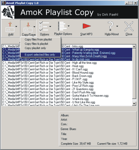 AmoK Playlist Copy