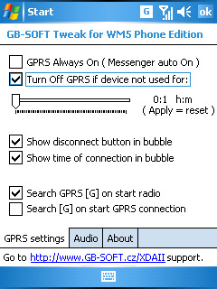 GB-SOFT GPRS & Audio Tweak