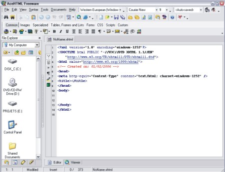 AceHTML Freeware